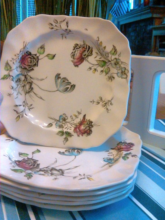 Set of 6 plates Johnson Bros China made in England by LauraLeeNW & 38 best Johnson brothers dishes made in England images on Pinterest ...