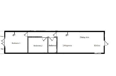 Floor Plan of 2 Bedroom at Aruba Cunucu Residence~800 sq.ft. Fully equipped Kitchen, Private Patio, Outdoor Pool & Gas BBQ. Free Parking, Cell Phone, WiFi, Flat Screen Cable TV. Queen Bed with 2 Double Pull-out Sofa Beds. Minutes to Palm & Eagle Beach! Studio & 2 Bdrm Available. This 100 year old Cunucu Residence is located in a quiet www.arubacunucure... #onehappyisland #IloveAruba #ArubaLovesMe #DiscoverAruba #Sun #Holiday #Vacation #Getaway #deals #lowrates #islandgetaway