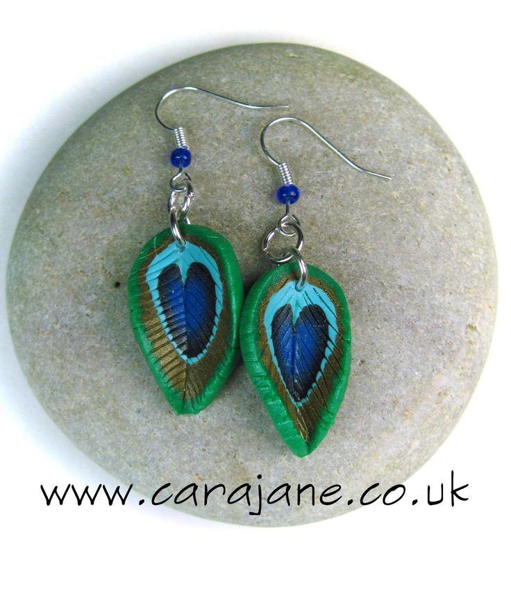 Cara Jane: Peacock Cane Earrings