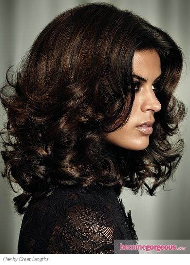 "Dark Chocolate Brown Hair Color - with a little ""help"" by Great Lengths"