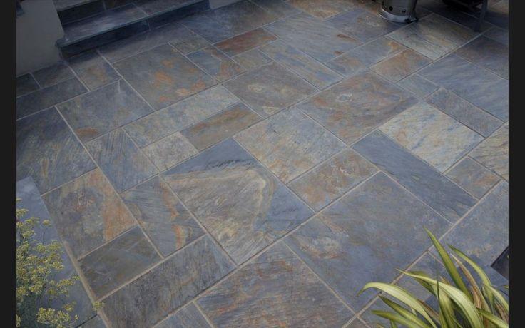Rustic-Copper Slate Paving Slabs - Garden Patio Stone Flags - Gold Multicolour in Garden & Patio, Paving & Decking | eBay