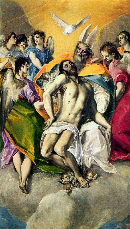 El Greco - The Trinity (Spanish 1577-79) - Museo Nacional del Prado - Madrid, Spain