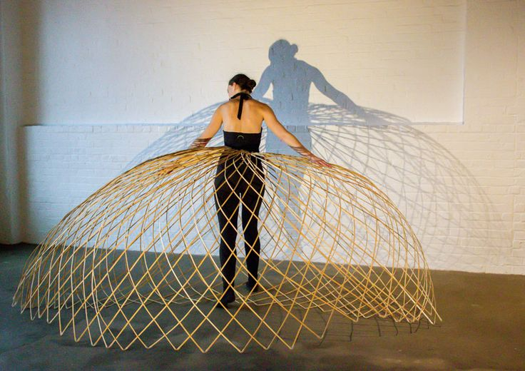 maria blaisse brings dancers' movements to life with bamboo structures