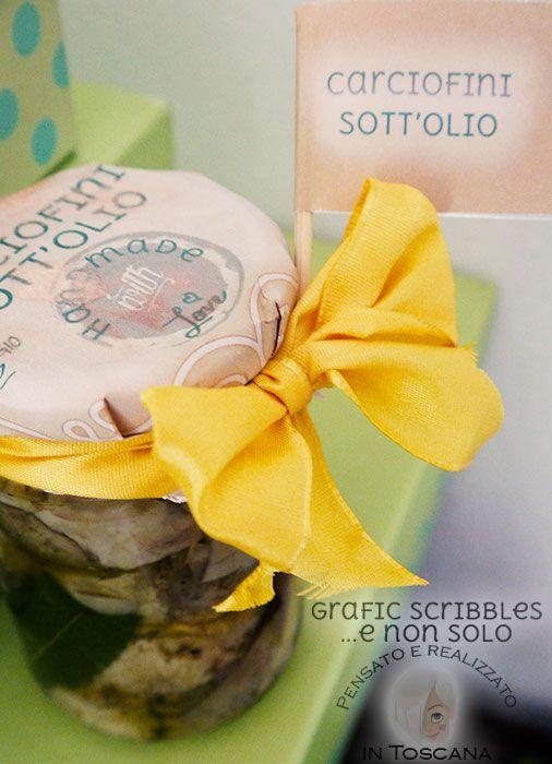 Etichette per carciofini sott'olio scaricabili gratuitamente, Free printable label http://graficscribbles.blogspot.it/…/etichette-per-carciofi… #label