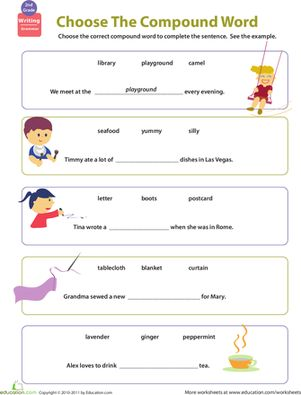 compound word worksheets 2nd grade grammar spelling and punctuation. Black Bedroom Furniture Sets. Home Design Ideas