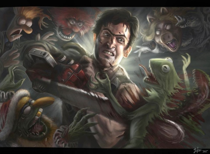Army of Muppet Zombies vs Bruce Campell