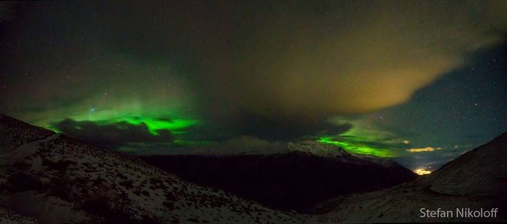 A stunning photo of the Southern Lights over Queenstown and The Remarkables by Stefan Nikoloff.