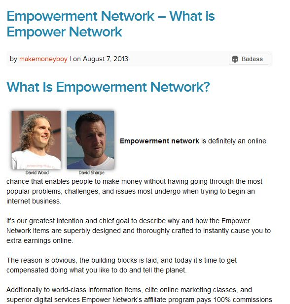 Empowerment Network – What is Empower Network | Empower Network Scam – Make Money Online Business – Best MLM | Awesome Screenshot