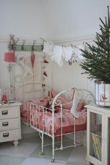 Vintage in kerstsfeer kinderkamer