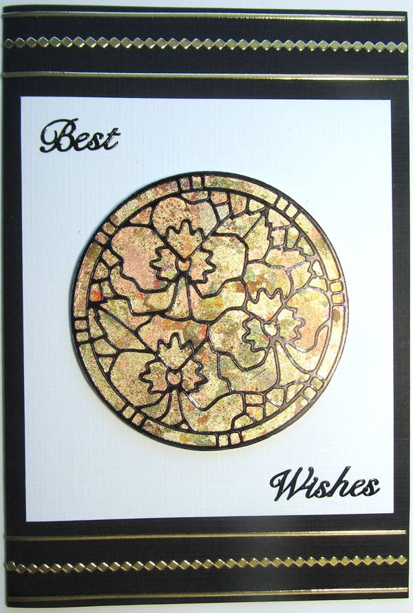 Stained glass effect - Jack paper and gilding flakes.