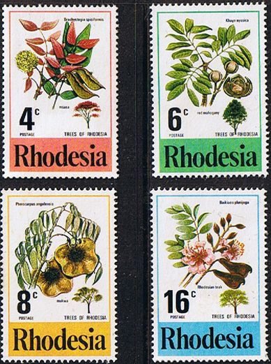 Rhodesia 1976 Trees Set Fine Mint SG 533 6 Scott 371 4 Condition Fine MNHOnly one post charge applied on multipule purchases Details Tree