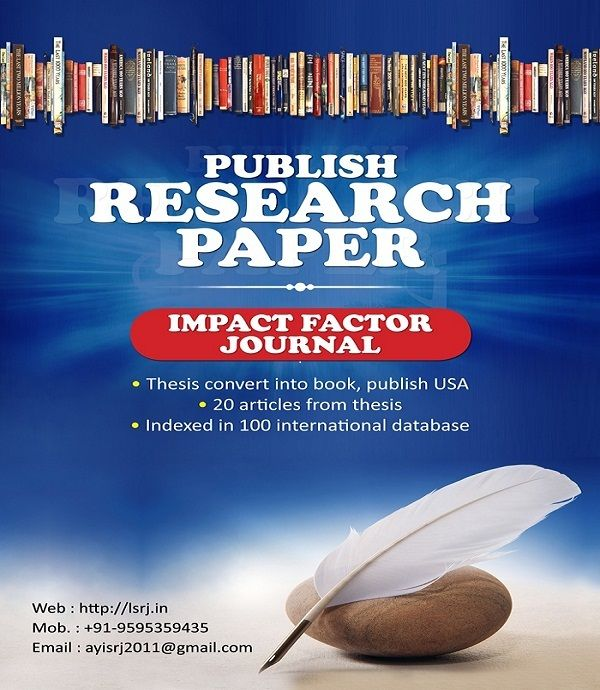 GOLDEN RESEARCH THOUGHTS (GRT) is a multidisciplinary research journal, publish monthly in English, Hindi & Marathi Language