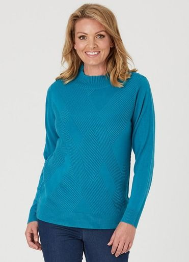 CROSS CABLE TURTLE NECK JUMPER