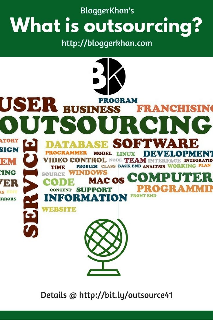Outsourcing as we know it is obtaining goods and services from outside sources instead of internal sources.  #outsource