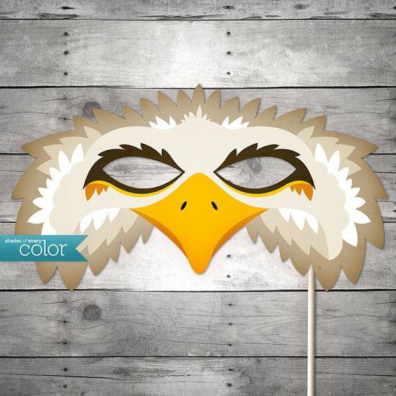 DIY Printable Eagle Mask  Halloween by ShadesOfEveryColor on Etsy, $4.99