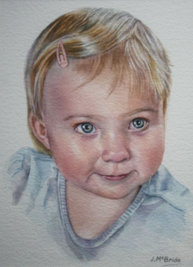 Watercolour painting of my granddaughter Lily