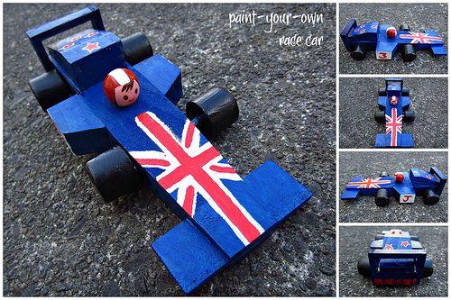 Paint-your-own race car