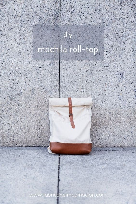 DIY roll top bag (translate spanish directions plus great diagrams)