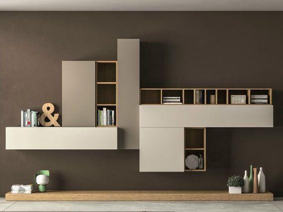 Parete attrezzata componibile slim 104 dall agnese idee casa muebles sala mueble de pared - Dall agnese mobili classici ...