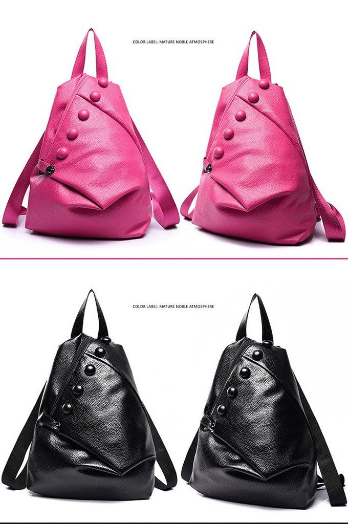 Designer Women Backpack Fashion School Bag For Teenagers Girl Travel Backpacks Faux Leather