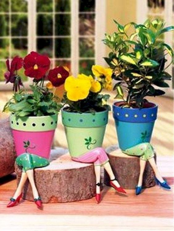 25 Creative DIY ideas with beautiful pots to welcome Spring