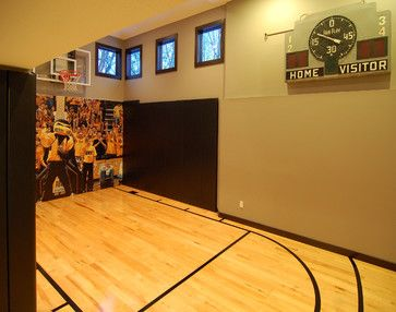 Sports Themed Bedroom Design Ideas, Pictures, Remodel, And Decor   Page 9  Great · Indoor Basketball CourtBasketball ...