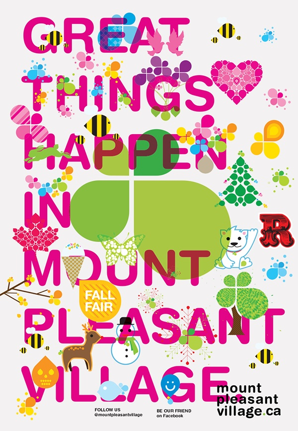 Love this ad for my 'hood!  Mount Pleasant Village. #Toronto Great shops, restaurants, bistros, cafes.....and NO chain stores.