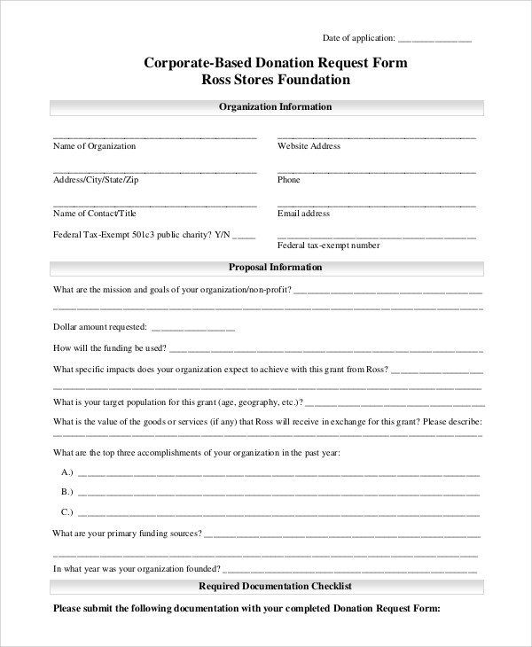 Donation Request Form Template Awesome 10 Sample Donation Request Forms Pdf Word Donation Request Form Donation Request Donation Form