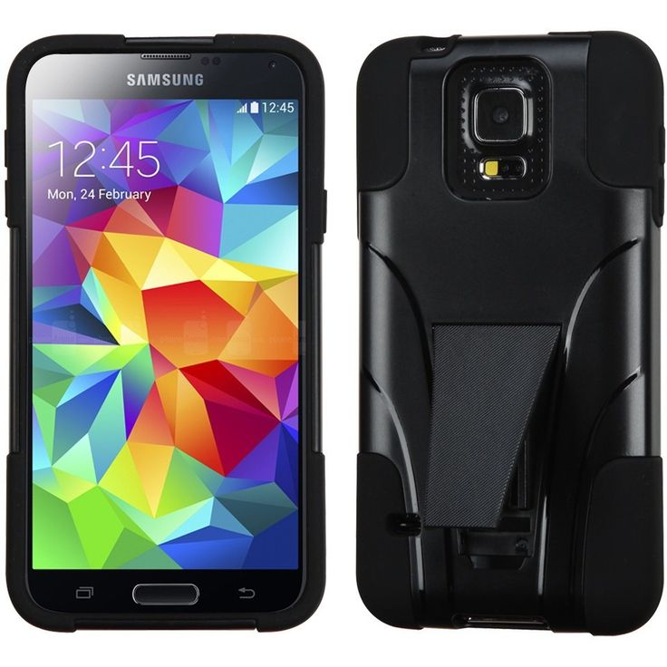 MYBAT Inverse Armor Stand Case for Samsung Galaxy S5 - Black
