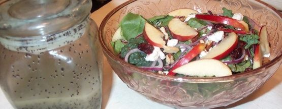 Apple and Pecan Salad with Honey Poppy Seed Dressing