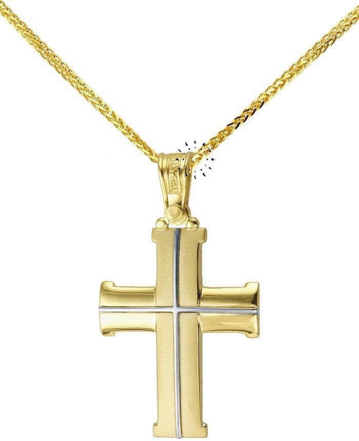 Σταυρός 14 Καράτια Χρυσό και Λευκόχρυσο TRIANTOS  450€  http://www.kosmima.gr/product_info.php?products_id=8962