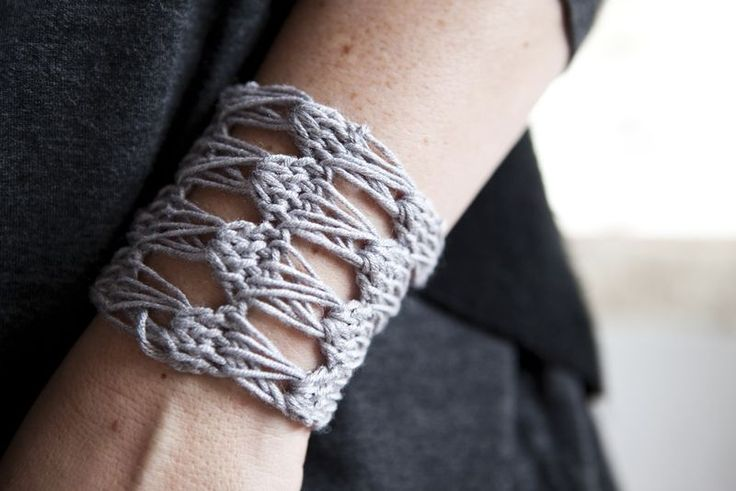 Broomstick lace bracelet. Finally something I can do that isn't a huge project.