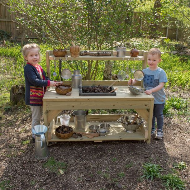 What makes the perfect outdoor space? Mud kitchen