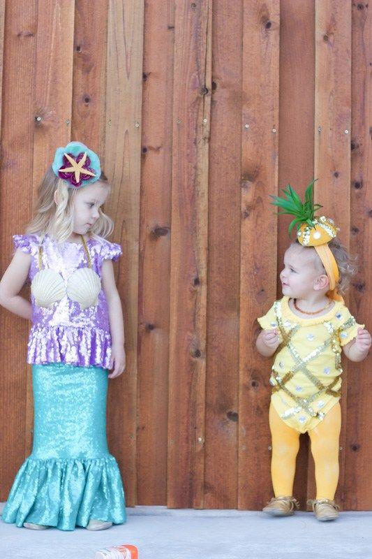 mermaid toddler costume pineapple baby costume
