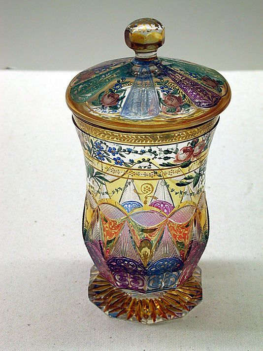 #Bohemian  --  Covered Beaker-Bohemian Glass  --  1850-60  --  Metropolitan Museum of Art