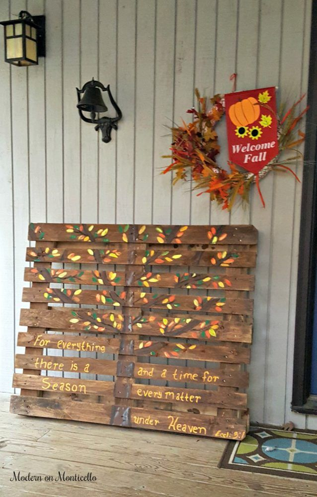 Fall Themed Inspirational Painted Pallet Sign Modern On Monticello Pallet Painting Painted Pallet Signs Outdoor Pallet Projects