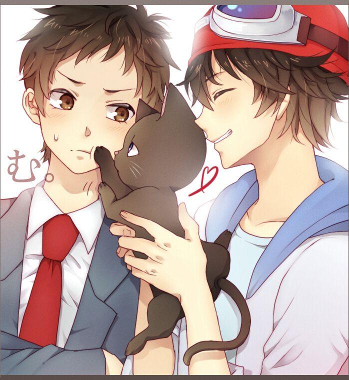 Tags: Anime, Goggles, Heart Line, SKET Dance, Fujisaki Yusuke, Goggles On Head, Tsubaki Sasuke