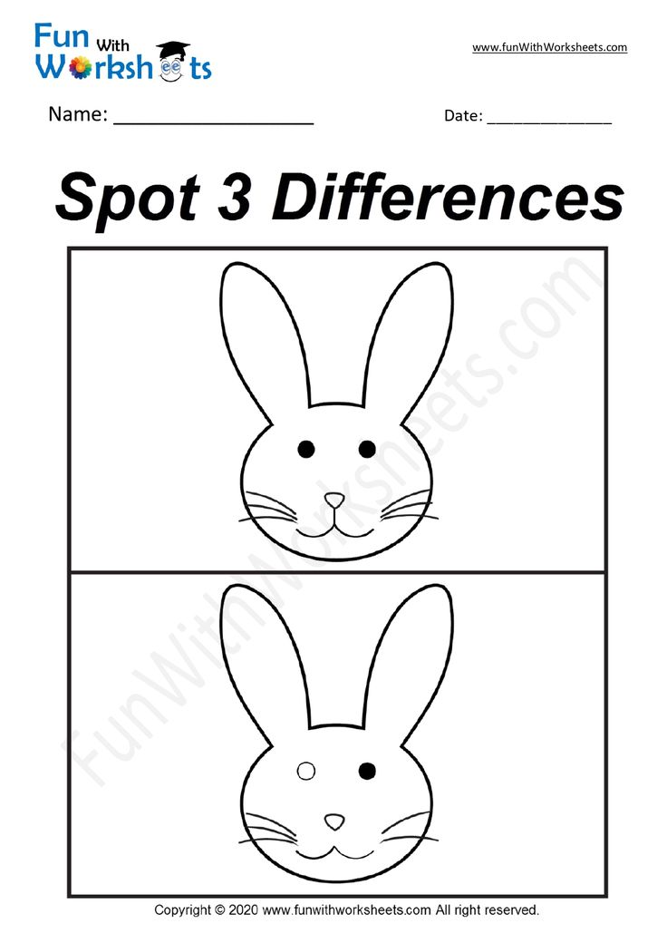 Spot the Difference Worksheet in 2020 Free printable