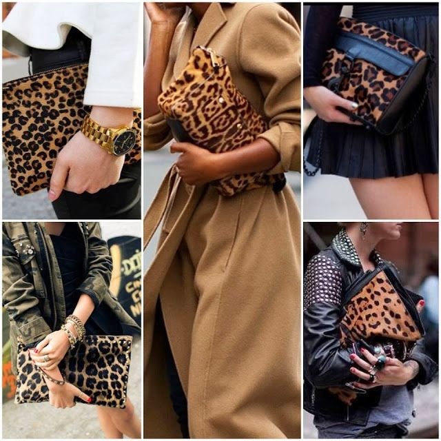 How to Chic: LEOPARD CLUTCH