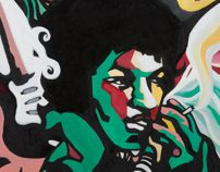 Sound#1, oil on canvas, 53.0×45.5, 2013 for Jimi Hendrix