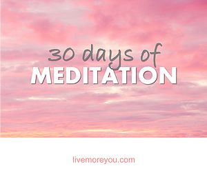 I've never seriously considered practicing meditation daily. In fact when I think of meditating I picture some old guy dressed in white, sitting in the lotus position on a cliff or a yoga class full of yummy mummies ommmm-ing their way to a state of relaxation. Here's how I got on when I meditated for 20mins everyday from 30 days.