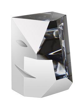 Cubic 2 Sculpture Medium, Martti Rytkönen, Orrefors - Buy art glass at ArtGlassVista!