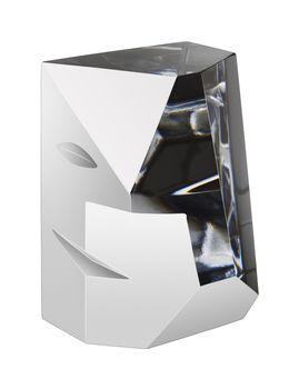 Cubic 2 Sculpture Medium, Martti Rytkönen, Orrefors - Buy art glass at ArtGlassVista!