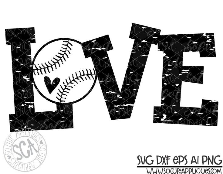 Download love baseball o distressed 18 svg sca   Baseball svg ...