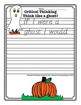Halloween Worksheet FREE About Ghost. Kids writing worksheet for school homework. (comprehension) DIY printable.