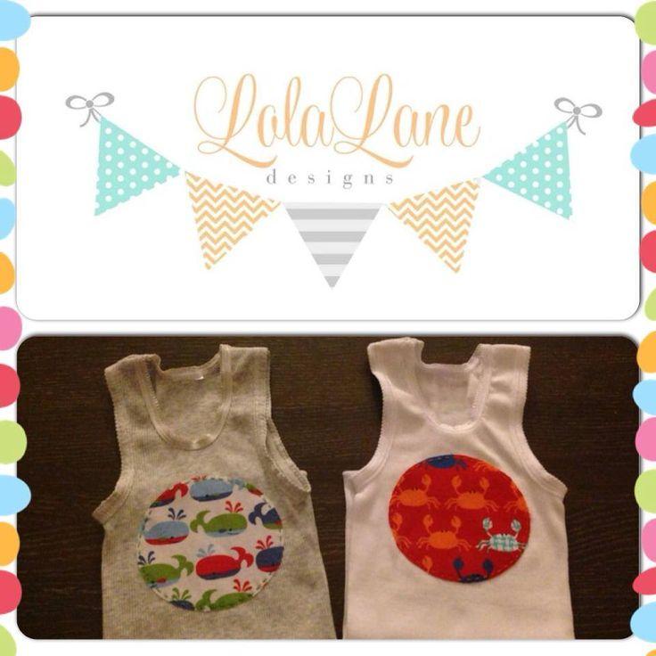 Handmade by Lola Lane Designs Boys Singlet Double Up
