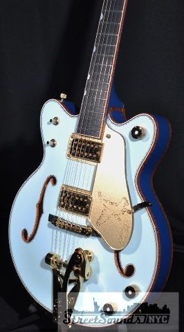 GRETSCH USA CUSTOM SHOP FALCON JR TWO TONE MARINE BLUE DOUBLE CUTAWAY