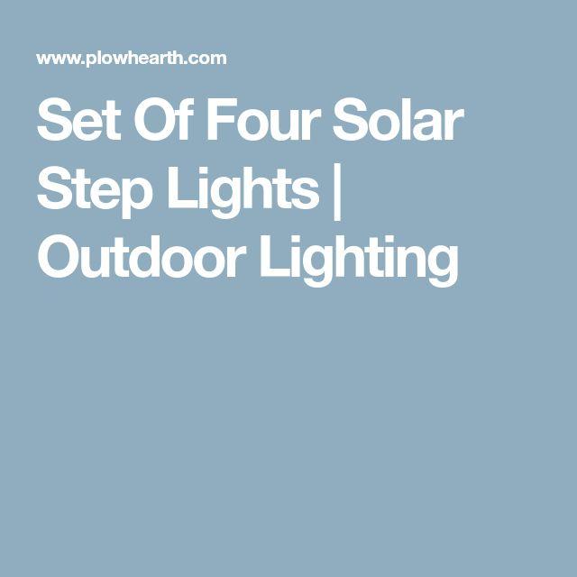 Set Of Four Solar Step Lights | Outdoor Lighting