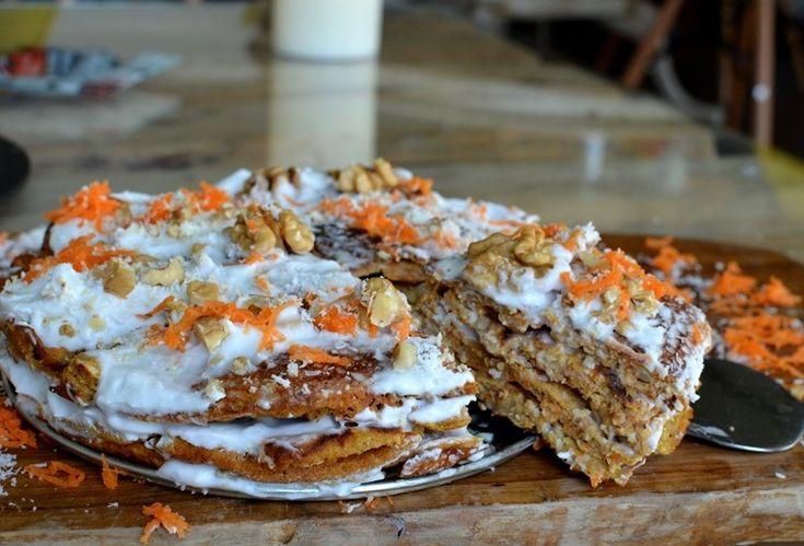 Torta de Panqueques Zanahoria y Coco | Nutralicioso