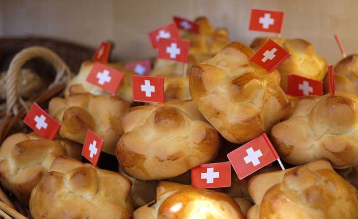 "Swiss National Day ""Weggli"" buns spotted at Migros"